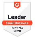 2020 Spring 2020 Badge - Leader - Small Business - G2 Crowd