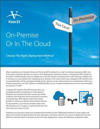 On-Premise or Cloud SAP Brochure